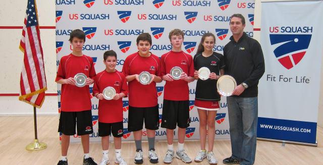 The Rye Middle School Squash Club.