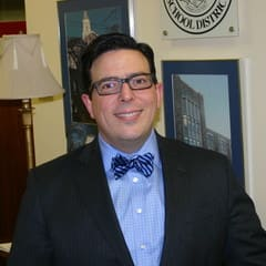 """Facing the third snow day of the season on Monday, Feb. 3, Peter Giarrizzo took to Twitter in hopes of inspiring some of the district's students to keep their brains going with his """"Snow Day Challenges."""""""