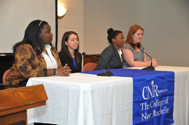 Dozens of Westchester women attended the first Connecting the Dots interactive event at The College of New Rochelle on Feb. 1 to learn about careers and the college experience.