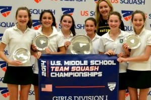Greenwich Academy won the Division I title at the U.S. Middle School Team Squash Championships over the weekend in New Haven.