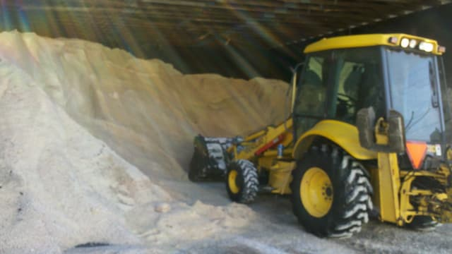 Hasting-On-Hudson has made a significant dent in its salt supply.