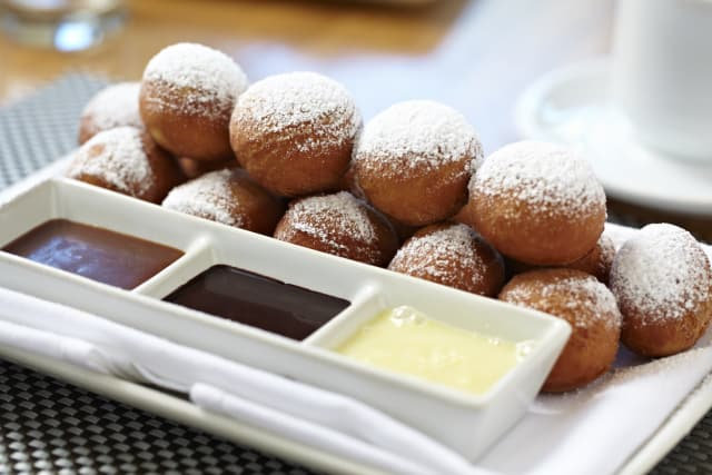 Beignets are among the more appetizing choices at Moderne Barn.