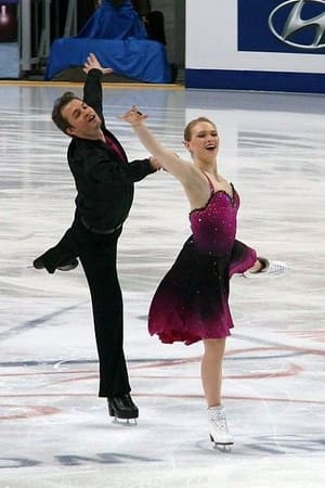 Stamford skater Siobhan Heekin-Canedy, right, with ice dance partner Dmitri Dun, skated for Ukraine in the Winter Olympics.