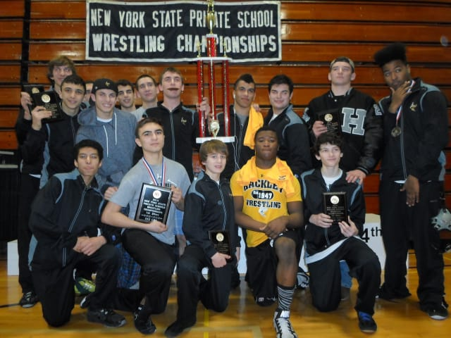 The Hackley School boasted two wrestlers that secured state championships while guiding the team to a fourth place overall finish at the State Private School Championships.