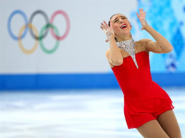 Brooklee Han, a Redding teen who competes for Australia, emotes during her Long Program at the Sochi Olympics on Thursday.