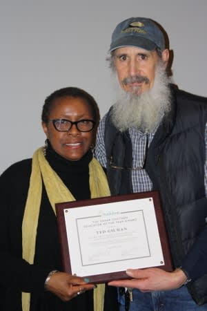Ted Gilman with Chandra Taylor Smith, VP of Community Conservation and Education for National Audubon Society.