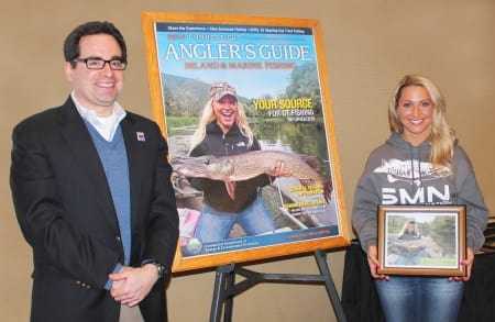 Norwalk's Andrea Repko has won the Connecticut Department of Energy and Environmental Protection's Angler's Guide cover contest.