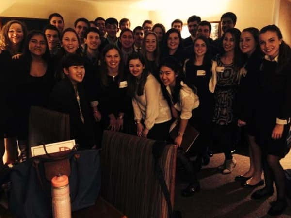 Students from the Rye Model UN club participated in the Harvard Model United Nations Conference recently.