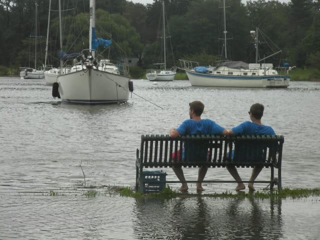 Flooding in Harbor Island Park during Hurricane Irene caused big problems for Mamaroneck residents.