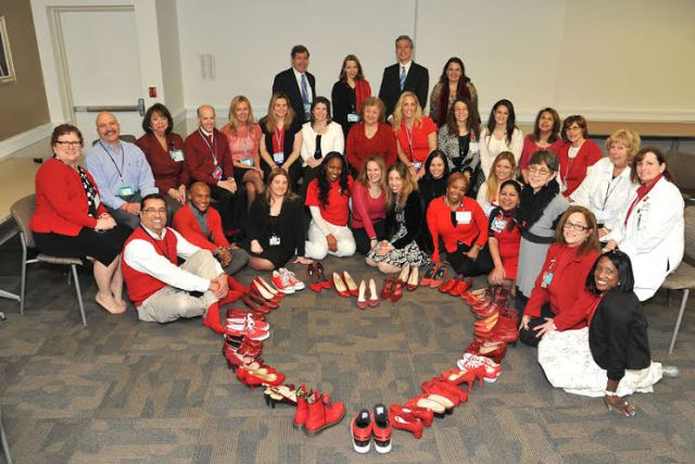 White Plains Hospital, the American Heart Association and White Plains Mayor Roach joined together for heart health awareness day.