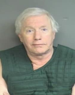 Michael Luecke, 72, of Stamford, was arrested Wednesday at Westhill High School.