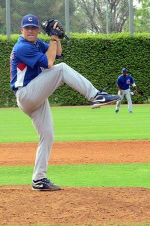 Norwalk pitcher Matt Iannazzo, shown pitching last year for an affiliate of the Chicago Cubs, will pitch for the Bridgeport Bluefish this summer.