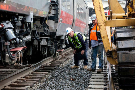 More than 70 people were injured when a Metro-North train derailed on the Fairfield-Bridgeport border in May.