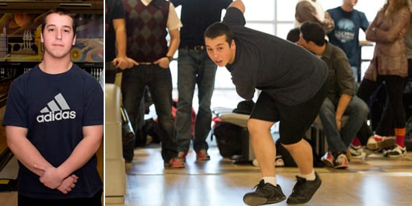 Michael DeRenzis is the first two-handed bowler to represent Section 1 in the state bowling competition.