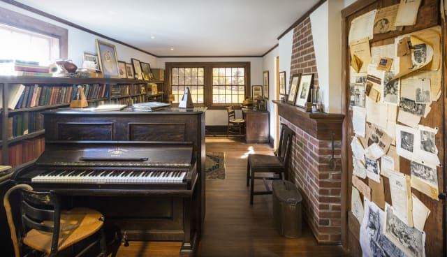 A replica of legendary composer Charles Ives will be on display at The American Academy of Arts and Letters beginning Thursday March 6.
