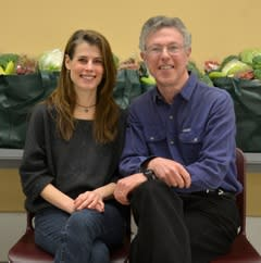 Former president Melinda Lehman (left) and new president Malcolm Frouman (right).