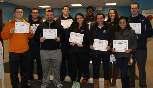 Pace University student-athletes and administrators participated in nationwide event, Read Across America and read to young school children at Bedford Road School in Pleasantville.