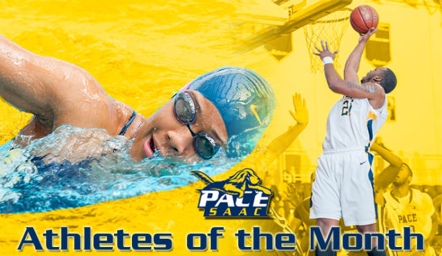 Women's swimming and diving senior Kaitlyn Lynch and men's basketball Jamaal James have been named athletes of the month by Pace University athletics.