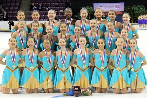 The Skyliners Synchronized Skating Juvenile division team won the national championship last weekend in Colorado.