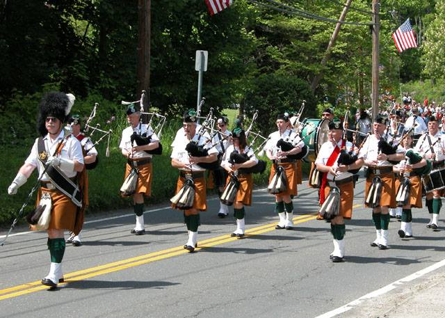 The Celtic Cross Pipes and Drums will be among the many participants in the 19th annual Stamford St. Patrick's Day Parade on March 8.