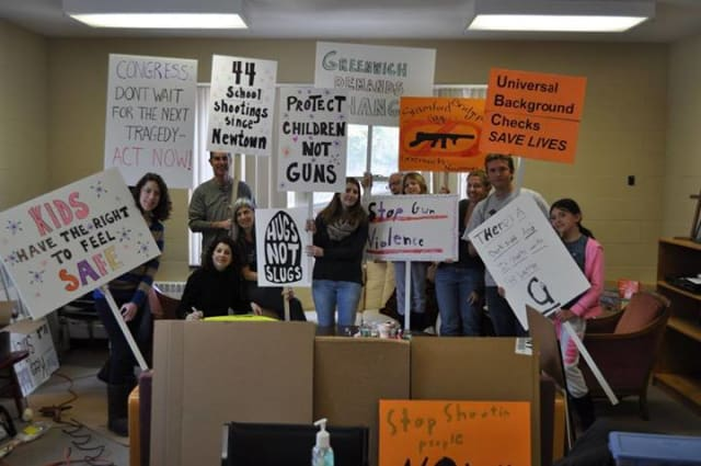 The Greenwich Council Against Gun Violence is set to welcome Team 26 for a rally at Greenwich Town Hall.