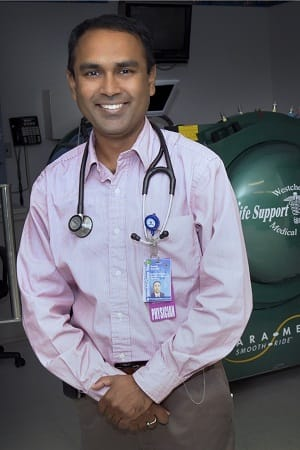 Dr. Kausik Kar, M.D., is the Medical Director of The Hyperbaric Unit at Westchester Medical Center