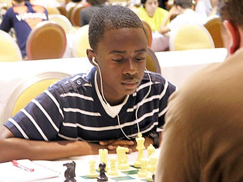 The Larchmont Public Library will host state chess champion Joshua Colas on Saturday, March 8. Colas is a White Plains native and sophomore at White Plains High School.
