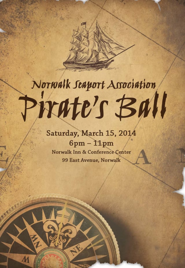 The Norwalk Seaport Association is set to host the Pirate's Ball on March 15.