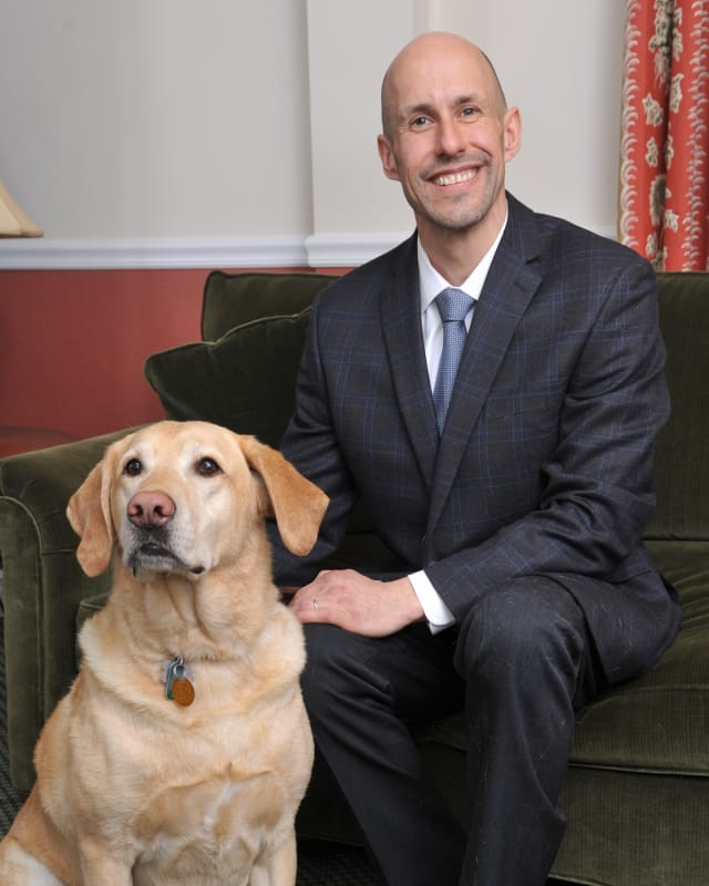 Tom Panek, with Quinn, recently became the new president and CEO of Guiding Eyes For The Blind.