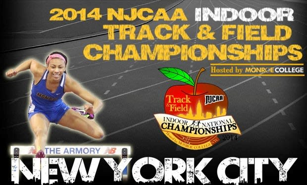 New Rochelle's Monroe College is hosting the 2014 NJCAA Indoor Track and Field National Championships on Friday, March 7 and Saturday, March 8.