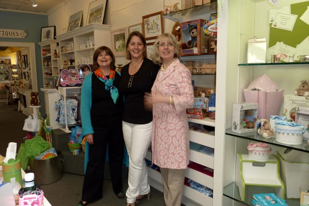 Fairfield Women's Exchange volunteers (from left) Judy Fisher, Kathy Mitchell and Gael Ficken. The nonprofit gift shop is looking for more volunteers in Southport.