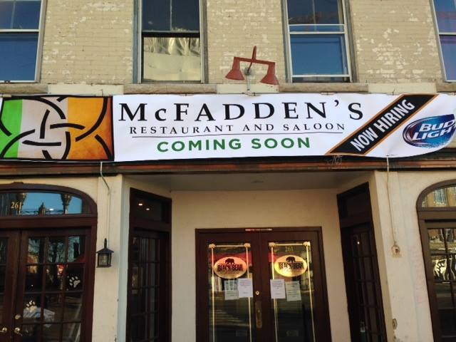 McFadden's Saloon will open its doors in Stamford on Friday, March 7.