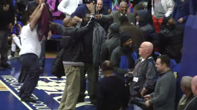 A video posted online shows Mount Vernon fans standing courtside taunting Mahopac fans in the balcony during the Feb. 27 boys basketball playoff game.