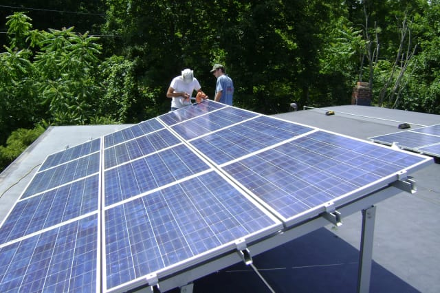 Solar panels for city buildings are part of the many projects under way for the Norwalk Mayor's Energy and Environment Task Force.