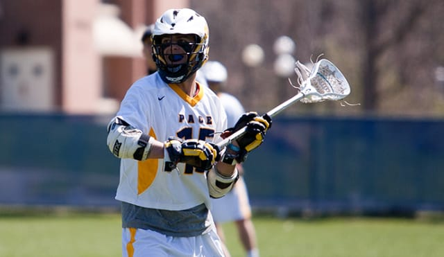 Williams Scioscia tallied eight points in Pace University's game against Dominican.