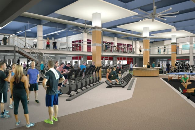 A rendering of the ground level of the Chelsea Piers Athletic Club, which is scheduled to open this fall.