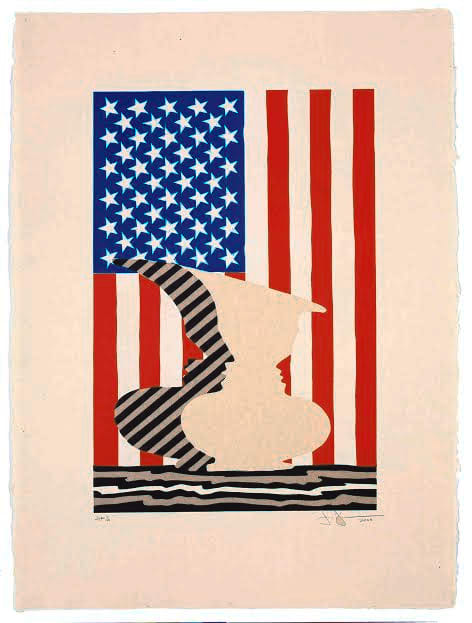 """Jasper Johns & John Lund: Masters in the Print Studio"" is the new exhibit at The Katonah Museum of Art."