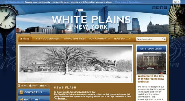 The City of White Plains recently unveiled its new website featuring a new format to streamline the browsing process.