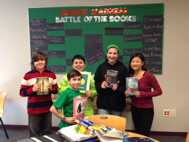 "The Briarcliff Middle School library is bringing the spirit of March Madness to its students with ""Battle of the Books."""