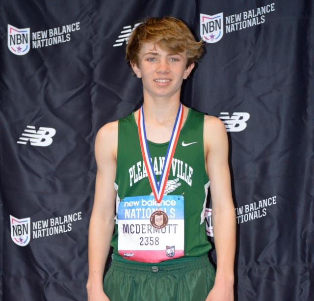Pleasantville eighth-grader Declan McDermott placed fifth at the New Balance National Indoor Track & Field Championship Meet.