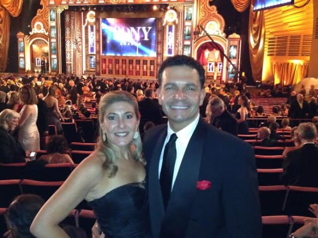 "Bronna and Jed Canaan, seen at the Tony Awards, are hoping their investment in ""Bullets Over Broadway"" pays off."