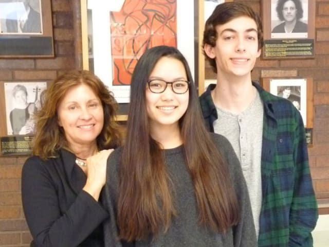 David Kaminsky and Maya Ponzini were instructed by teacher Roxanne Ritacco, left.