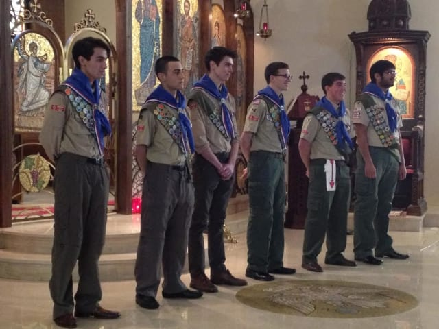 The newest Eastchester Eagle Scouts.
