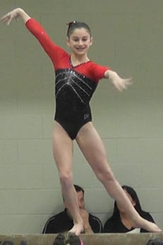 Wilton's Jessica Olin finished third all-around in the Connecticut Level 8 state championships last weekend in Hamden. She competes for Arena Gymnastics of Stamford.