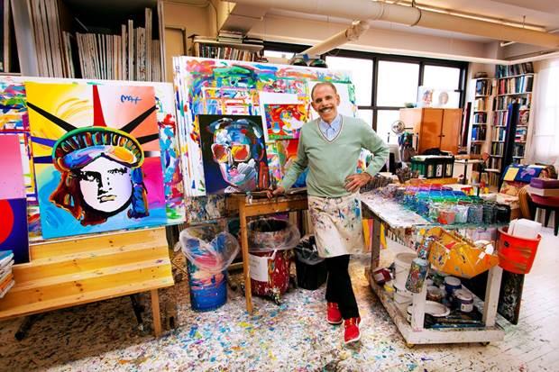 Peter Max in his studio, 2013.