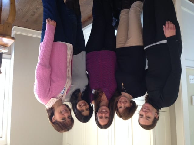 New Canaan's past and prospective hosts celebrate Fresh Air Fund Day! From left to right: Kristen Hall (prospective host), Lisa Hill (hosted in 2013), Alicia Meyer (hosted in 2013), Janet Mentore Lee (prospective host), Teri Reed (host since 1999).