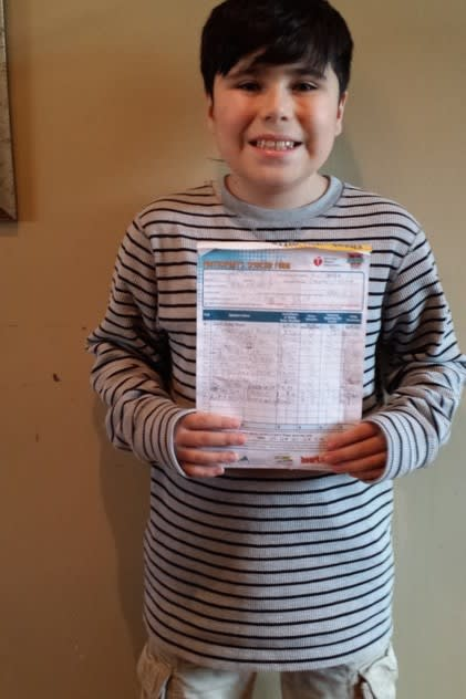 Matthew Gullotta, a 10-year-old Ossining resident, has raised more than $2,000 for the American Heart Association.