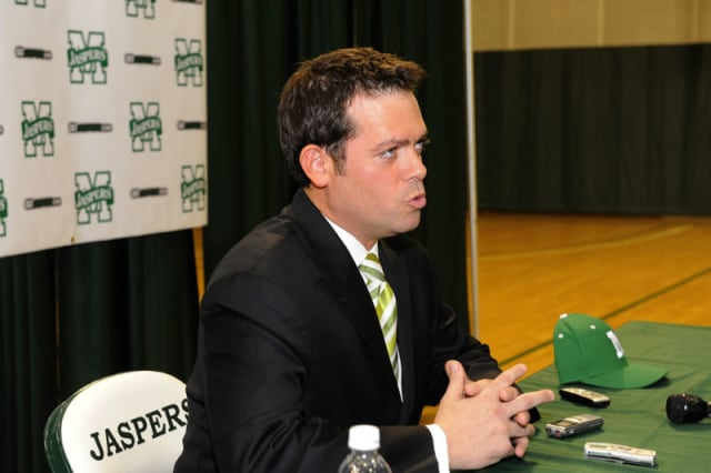White Plains native Steve Masiello was placed on administrative leave after it was discovered he didn't receive an undergraduate degree from the University of Kentucky.