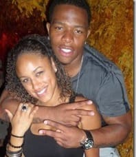 A photo of Ray Rice with Janay Palmer who he reportedly married Frioday, March 28, published on slimcelebrity.com.
