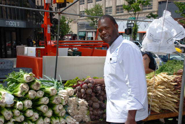 The Ritz-Carlton, White Plains is giving residents the opportunity to see how a master chef shops at a Farmers Market on Wednesday, April 2 in White Plains.